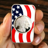 Colorized Buffalo Design 1 oz .999 Fine Silver  Bar Bullion Round SB1L4