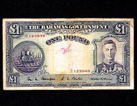 Bahamas 1 Pound ND 1936  P-11  (Prefix A 4)
