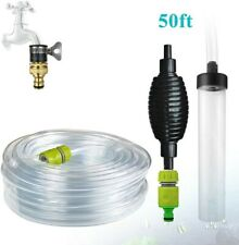 50ft Aquarium Water Changer Gravel & Sand Cleaner for Fish Tank Siphon Tools