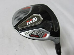 Used RH TaylorMade M6 D-Type 22* 7 Fairway Wood Even Flow Shaft Senior A Flex