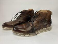 New Handmade bed stu Bedstu Bowery Teak Rustic Leather Chukka Boots Size 10.5