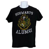 Hogwarts Alumni Harry Potter Mens T-Shirt Black Size M Medium Short Sleeve
