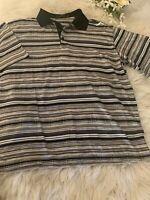 BUGATCHI UOMO Men's XL Mercerized Egyptian Cotton Polo Shirt