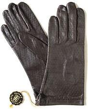 Handschuhe Leder Damen Kaiser Leather Fingerhandschuhe Muster Schwarzbraun 7,5