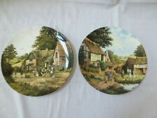 2 Royal Doulton Harvest Home Collector Plates Peter Kotka Turning Hay,Welcome Re