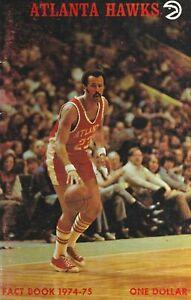 1974-75 Atlanta Hawks National Basketball Association Media Guide Lou Hudson NBA