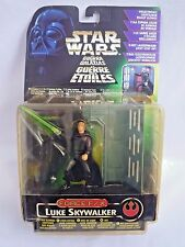 STAR WARS THE POWER OF THE FORCE LUKE SKYWALKER WITH GLOWING LIGHT SABER