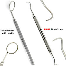 Basic Examination Dental Calculus Remover Kit Sickle Scaler Mouth Mirror Labor