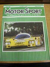 Jul-1984 Motor Racing magazine: Sport Automobile-photo de couverture... Le Mans, en privé