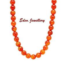 Beautiful Brand New Necklace with 305.0ctw Genuine AGATE 925 Sterling Silver