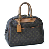 LOUIS VUITTON Monogram Deauville Hand Bag M47270 LV Auth cr557