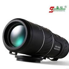 UK Zoom Lens 20x52 Travel Outdoor Hunting HD BAK4 Armoring Monocular Telescope