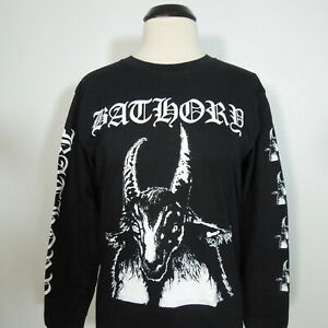 - BATHORY Goat Pentagram 1984 Long Sleeve T-Shirt Black Men's size XL (NEW) NWOT