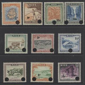 NIUE 1967 Decimal currency overprint set SG.125-134 MLH (Shipping ≥ £1.15/order)