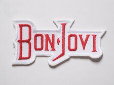 White BON JOVI music Rock Metal Patch Embroidered B