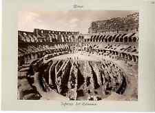 Italie, Roma, interno del colosseo  Vintage albumen print  Tirage albuminé