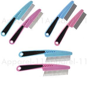 Pets Fine Medium Detangling Comb Flea Remover Dog Cat Metal Teeth Hair Comb Coat