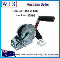 1000LBS/450Kg Hand Winch 2-Gears 8m Synthetic Cable Boat Trailer 4WD Winch-45199