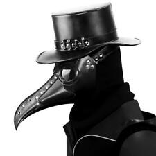 Plague Doctor Steampunk Bird Leather Halloween Party Mask Costume Cosplay Beak