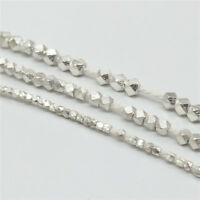 Karen Hill Tribe Tribal Silver Faceted Spacer Hexagon Beads 1.5mm 2.5mm 3mm