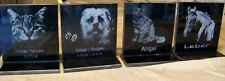 """Black tile pet memorials 6"""" X 6"""" with or without base"""