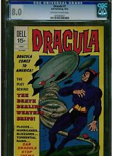 DRACULA 7 CGC 8.0 1972 DELL COMICS OFF WHITE TO WHITE PAGES BLUE LABEL VERY FINE