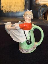 Antique German Schafer & Vater porcelain milkmaid pitcher or creamer mint rare
