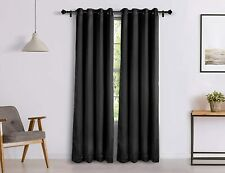 New 2 Piece Eyelet Room Darkening Blackout Door Curtain Set - 7 ft