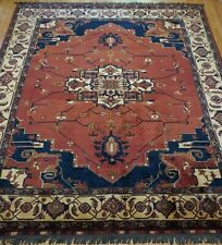 New listing Gorgeous Herizz Serapii Afghan Hand Knotted 100%Wool Oriental Rug Cleaned 9x12.8