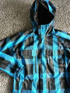 MEN'S BURTON DRYRIDE PLAID JACKET 2 PCS SNOWBOARDING & SKI LARGE hoodie liner