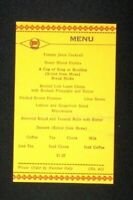 Vintage Lehigh Valley Railroad Dining Car Menu #44