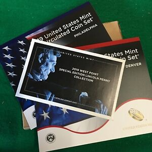 2019 Uncirculated Mint Set INCLUDING The Awesome West Point Penny 21 Coins OGP
