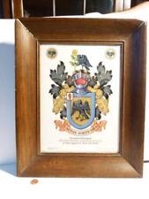 1929 Sir Benjamin Dawson Baron Nun Appleton York Wollaston signé héraldique