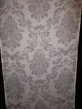 "Laura Ashley Panel Pair 36"" x 83"" Curtain semi sheer white gray floral"