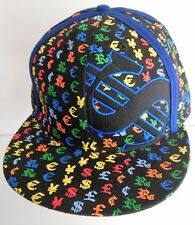 New Era Dollar Sign Money Fitted Hat Black Multicolor Baseball Cap 59 Fifty New