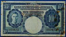 More details for government of jamaica 1940 ten shillings (10/-) blue banknotes.         ch13-137