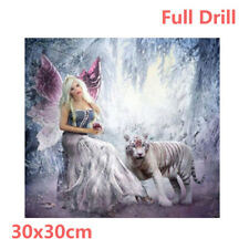 UK Full Drill Elf Queen Tiger 5D Diamond Painting Embroidery Cross Stitch Kit