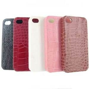 Luxury Leather Crocodile Skin Case for the Apple iPhone 4 4S