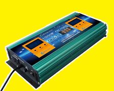 2 in 1 on/off 1200W Grid tie power inverter DC 28V-48V to AC 110V + LCD, solar