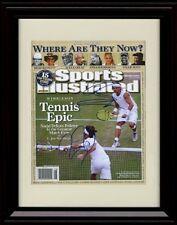 Framed Nadal/Federer Sports Illustrated Autograph Replica Print - Tennis Epic.