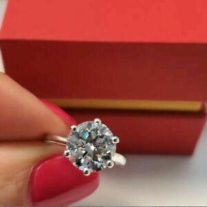 Round Cut 5.00 Carat Solid 14K White Gold Diamond Wedding Rings Size L M N O P