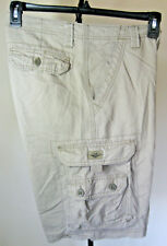 EUC Men's LEE Cargo Shorts 30W Beige 8 Pocket Double Stack 100% Cotton Longer