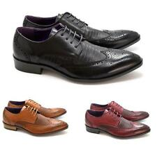 Nuevo Para hombres Clásico Imitación De Cuero Con Cordones Casual Zapatos Oxford Uk Tamaños 6-11
