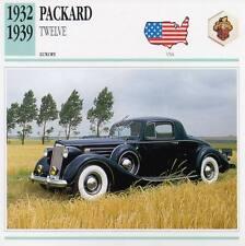1932-1939 PACKARD TWELVE Classic Car Photograph / Information Maxi Card