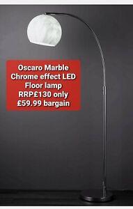 Oscaro Marble Chrome effect LED Floor lamp  RRP£130 only £59.99 bargain