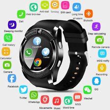 V8 Bluetooth Reloj Inteligente SIM cámara impermeable GPS relojes de pulsera para IOS Android