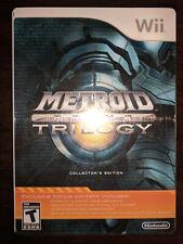 Metroid Prime Trilogy: Collector's Edition, Nintendo Wii Steelbook Complete CIB