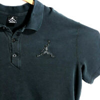 Nike Jumpman Michael Jordan Black 23 Polo Shirt XL Black Jumpman Logo