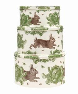 Thornback and Peel  Rabbit and Cabbage Cake Tins set of 3