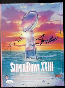 Super Bowl XXIII Program 49ers JSA Certified Signed Auto Jerry Rice Joe Montana